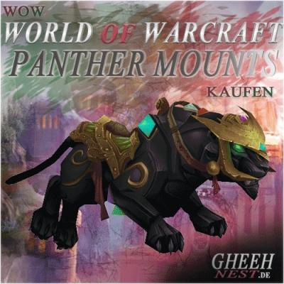 Panther Mounts - World of Warcraft (WoW) // Buy at Gheehnest Shop: Battle Pets, Mounts & TCG